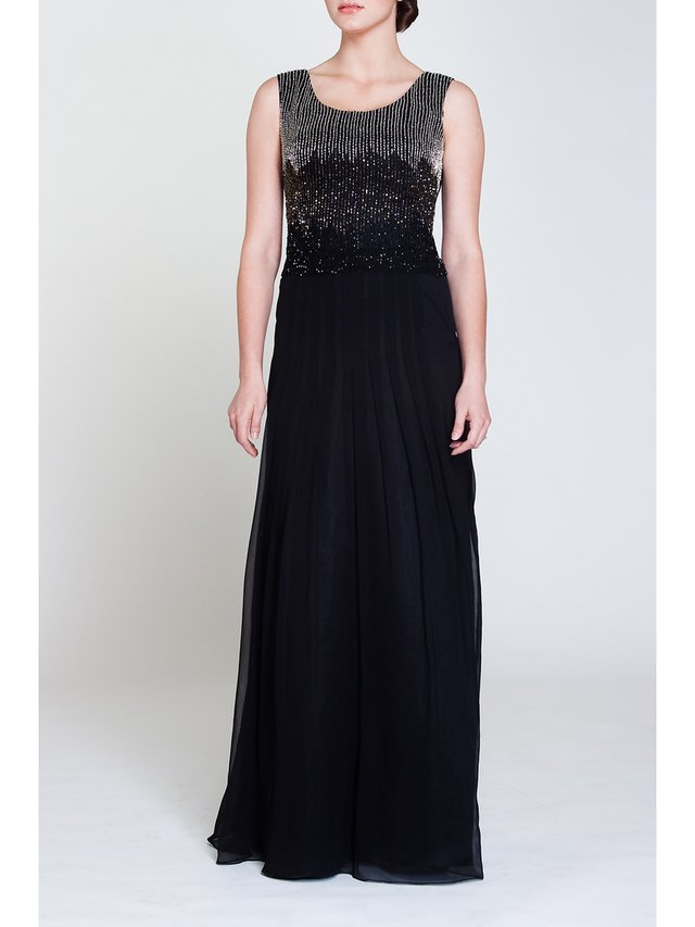 Narces String Embellishment Gown
