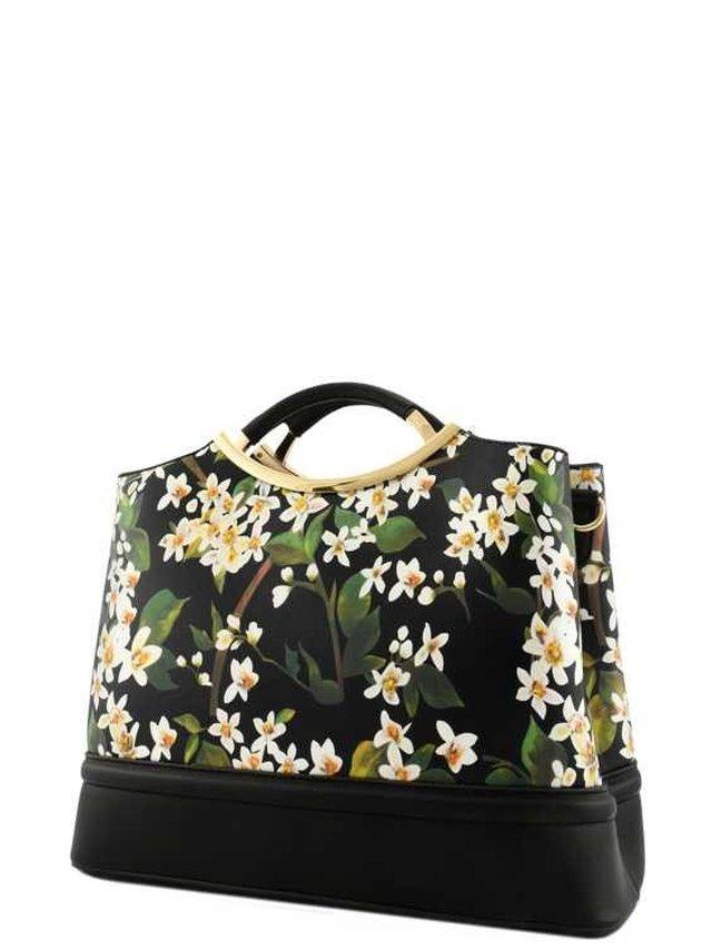 Arcade Attire Floral Print Top Handle Bag - Black