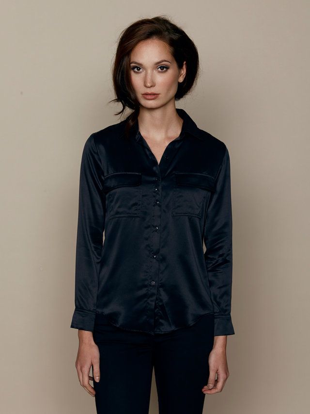 Hilary MacMillan Black Signature Blouse
