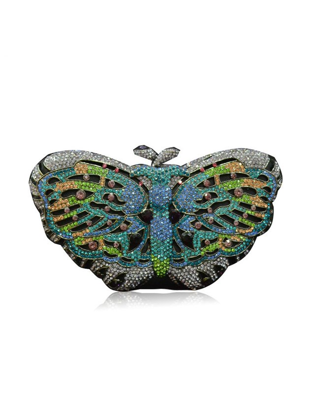 Milanblocks Butterfly Rhinestone Evening Clutch