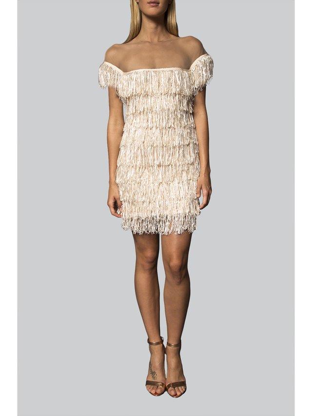 Narces Fringe Cocktail Dress