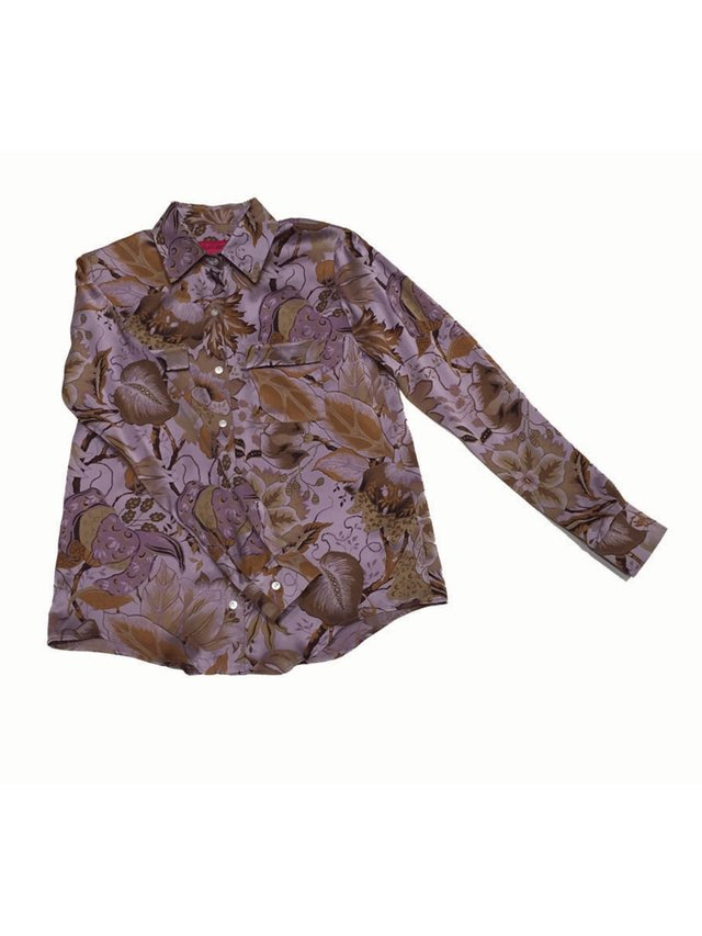 Hilary MacMillan Silk Floral Blouse