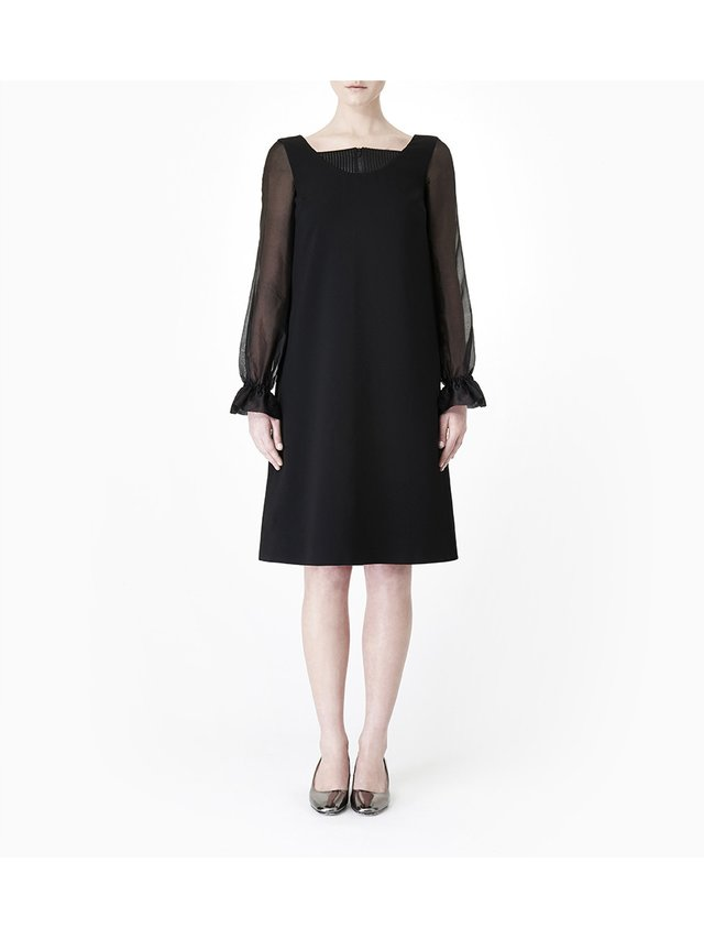 Sarah Bond Anais Black Crepe Dress