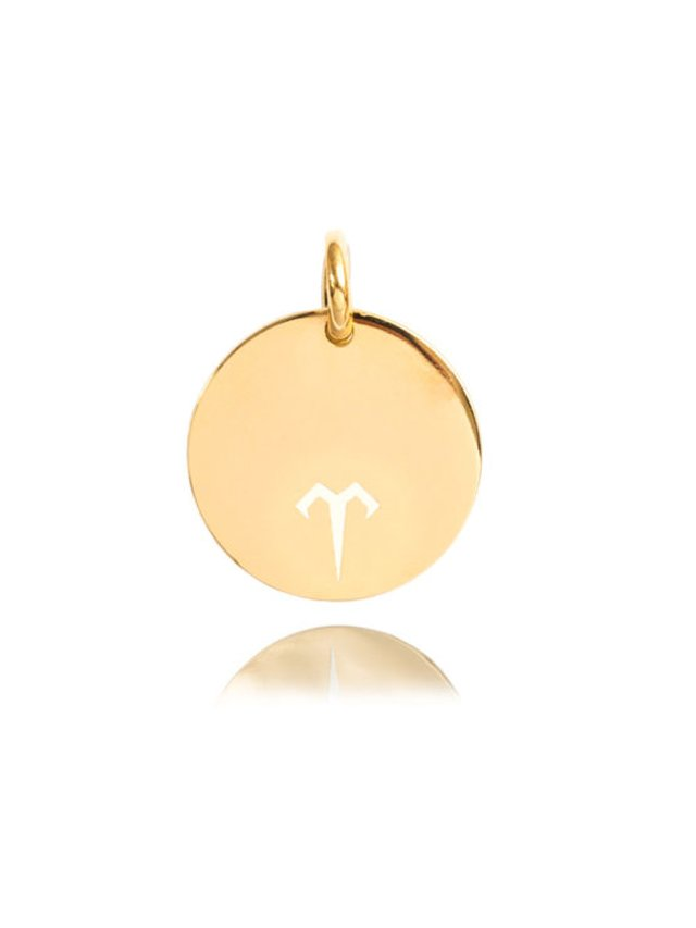Ternary London MEDIUM COIN CHARM PENDANT GOLD