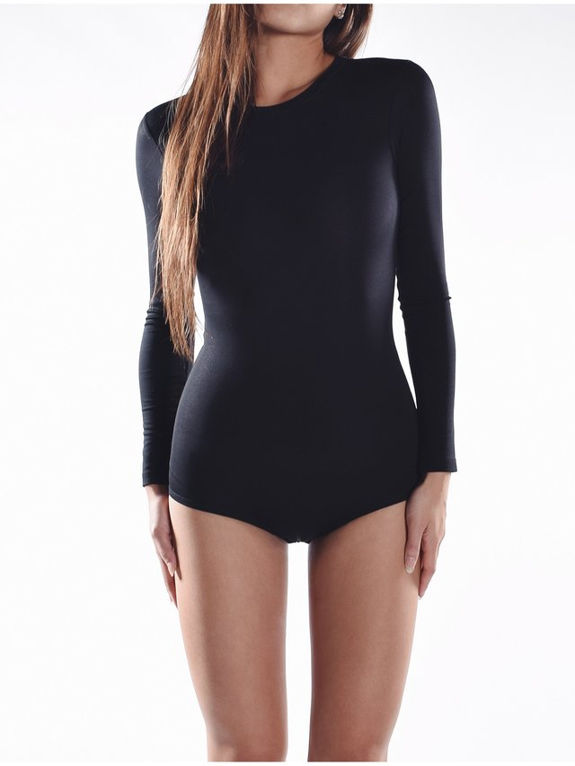 Cara Cheung Long Sleeve Bodysuit - Black