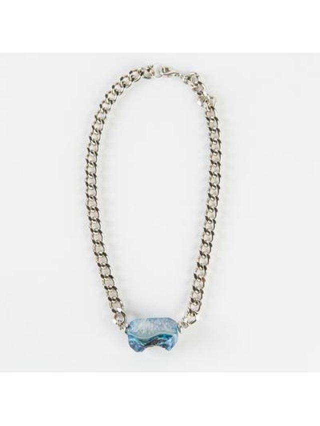 Monoxide Style Sirenum Agate Choker - Blue