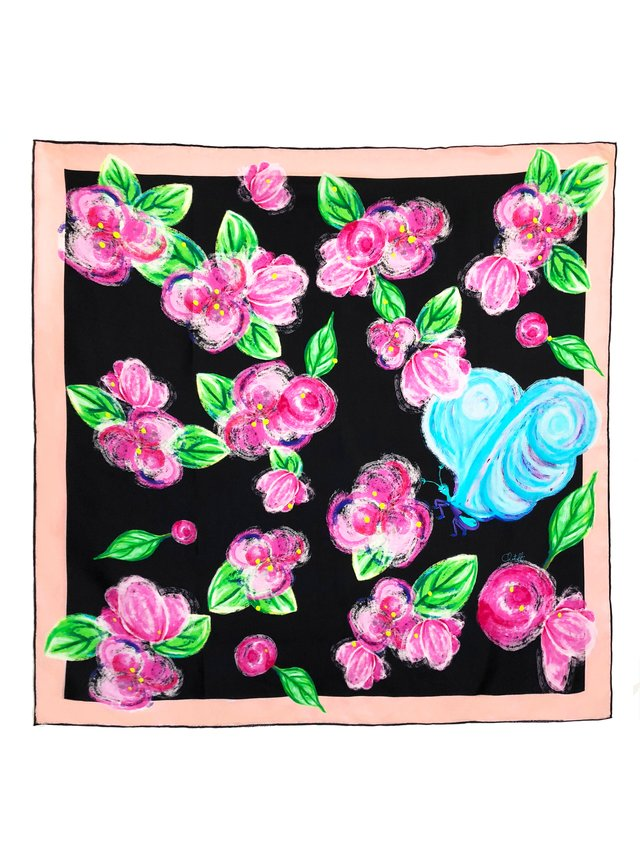 CHRITIFF Loving Viva Scarf (Jade Black) 70cm