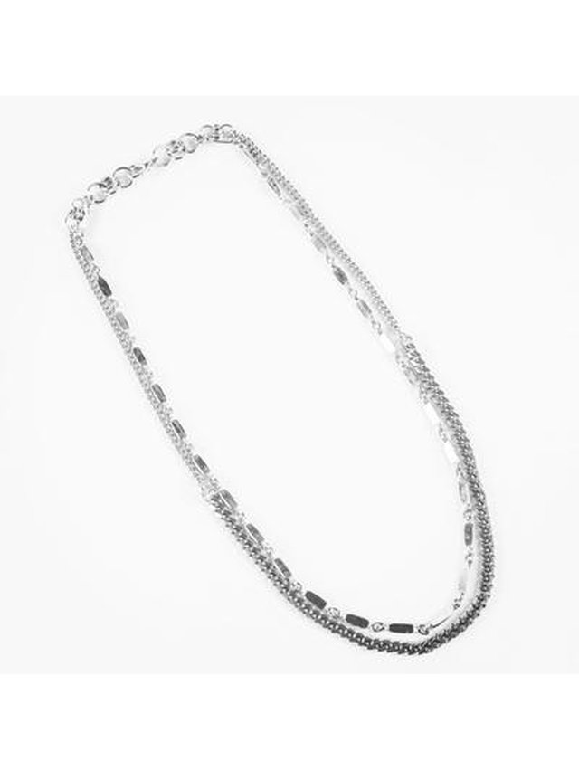 Monoxide Style Aya Double Layer Necklace - Silver