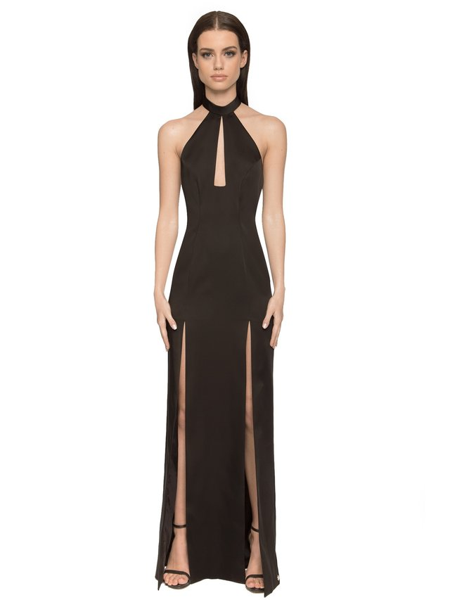 Aloura London Saffron Gown - Black