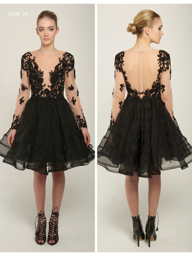 Narces Jellyfish Black Dress