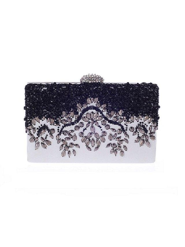 Kari C. Anya embellished leather clutch