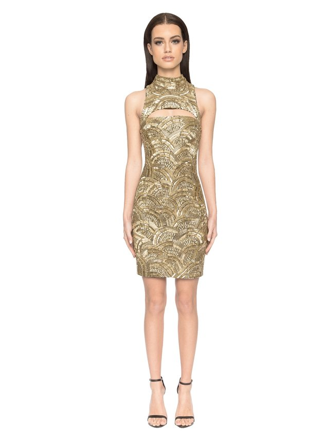 Aloura London Madison Dress - Gold