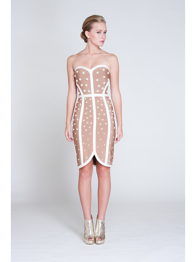 Narces Nude Pearl Dress