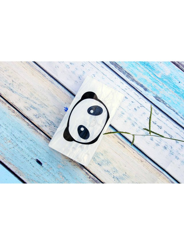 Milanblocks Mother Of Pearl Panda Acrylic Box Clutch