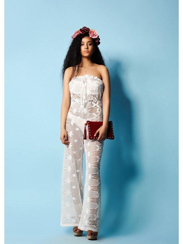 COCONAUTICAL Hannah - White Lace Jumpsuit
