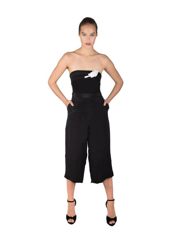 LIZA VETA Silk Double Crepe Morocain Jumpsuit