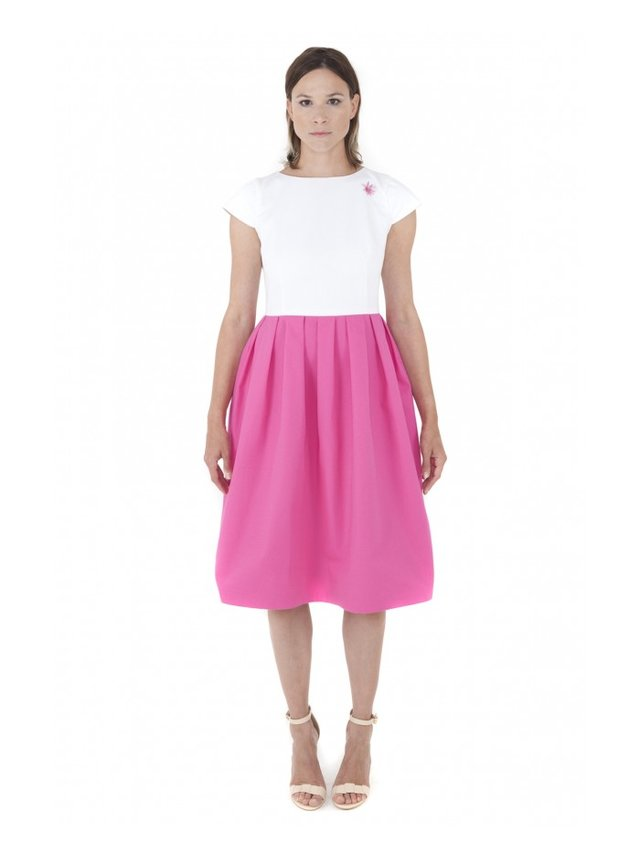 LIZA VETA COTTON MIDI DRESS