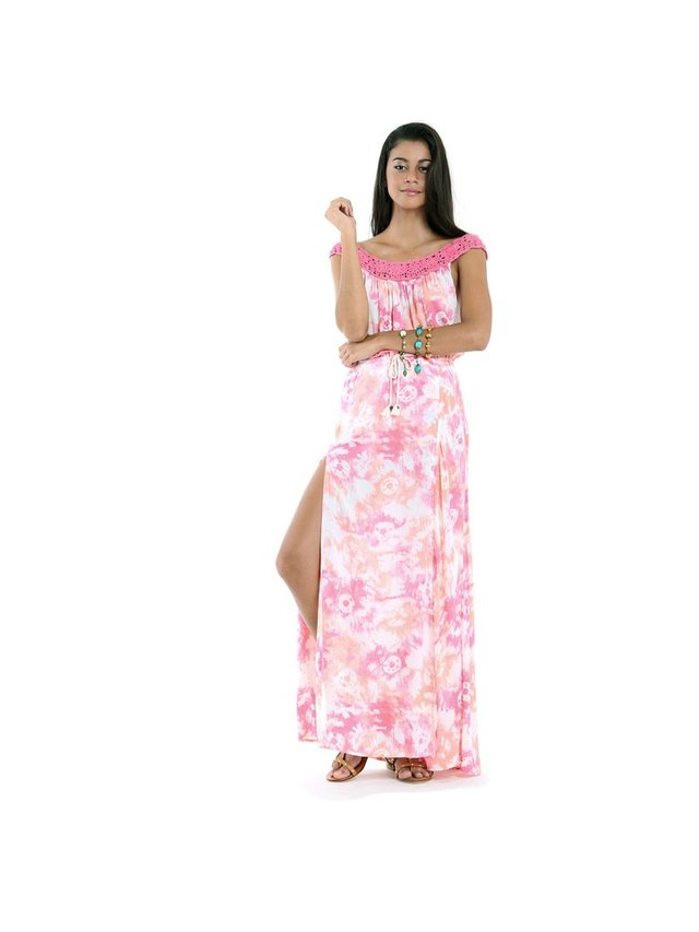 Tulle & Batiste Belle Maxi Dress Peach