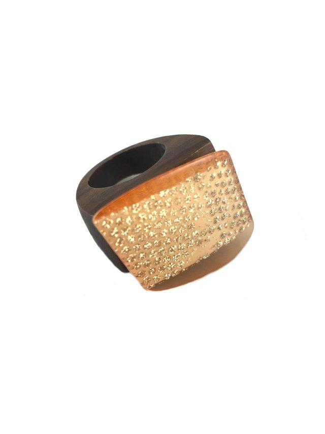 MizDragonfly Tilt Ring Amber