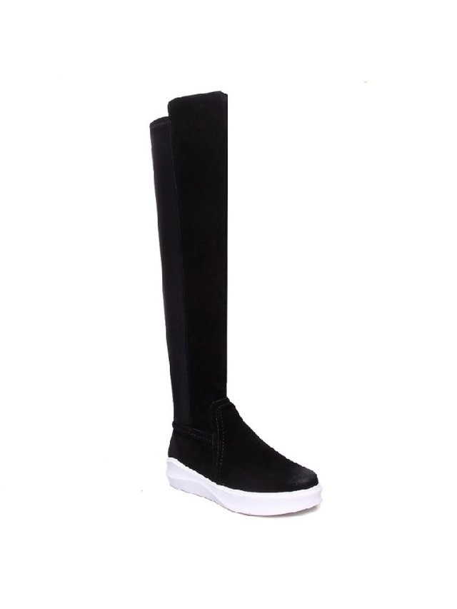 Kari C. Jordan Black Sporty Tall Boot