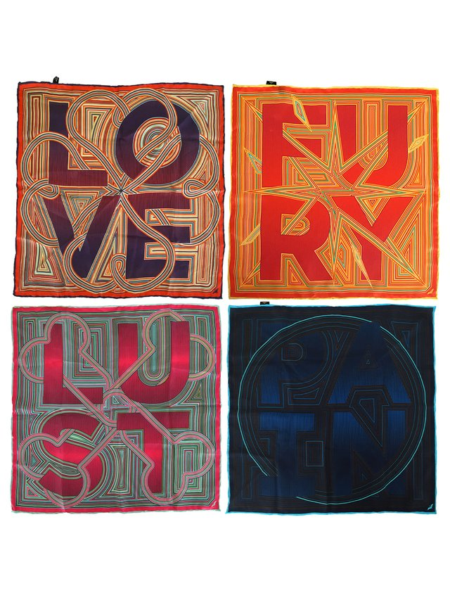 Furious Goose Four Letter Words – Silk Pocket Squares/Scarves