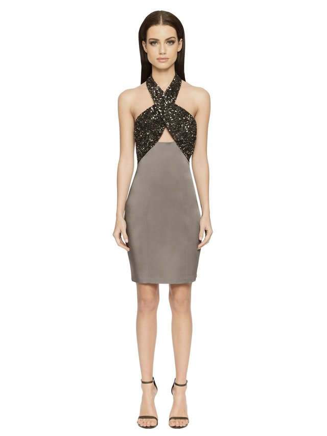 Aloura London Primrose Dress - Graphite