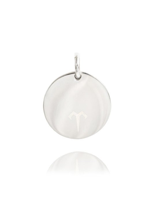 Ternary London MEDIUM COIN CHARM PENDANT SILVER