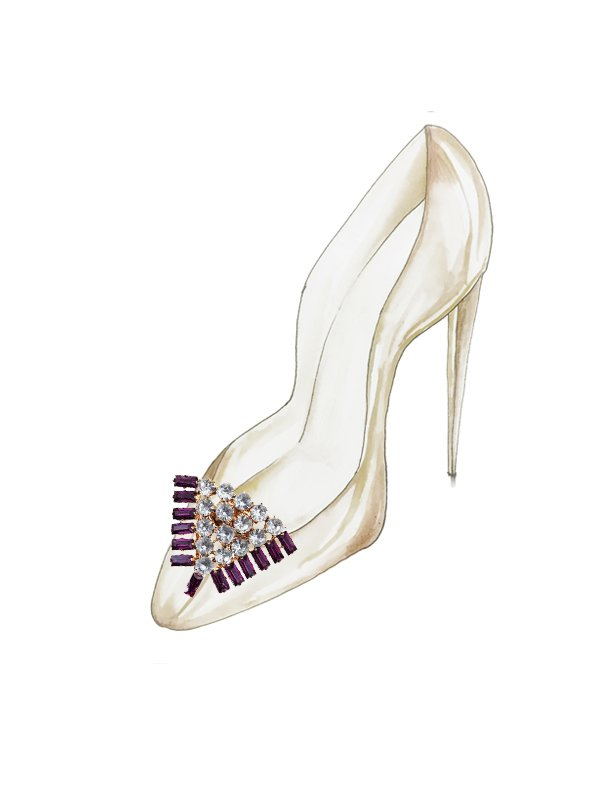 Kari C. Pyramid Shoe Bijoux clip