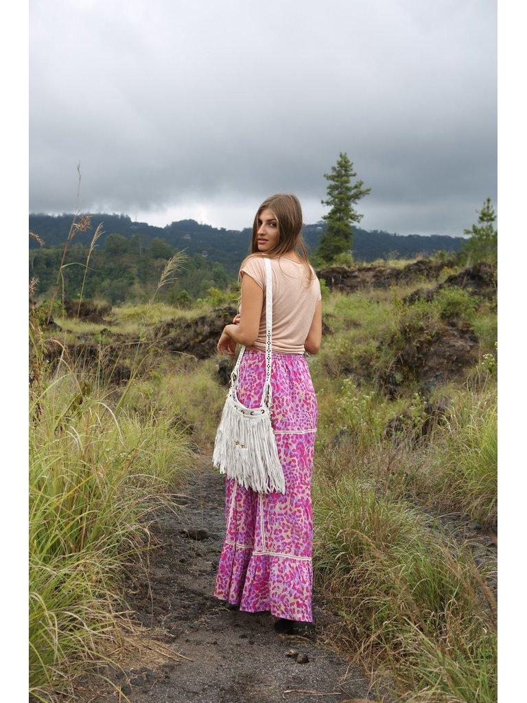 Tulle & Batiste Belle Tassel Bag Offwhite