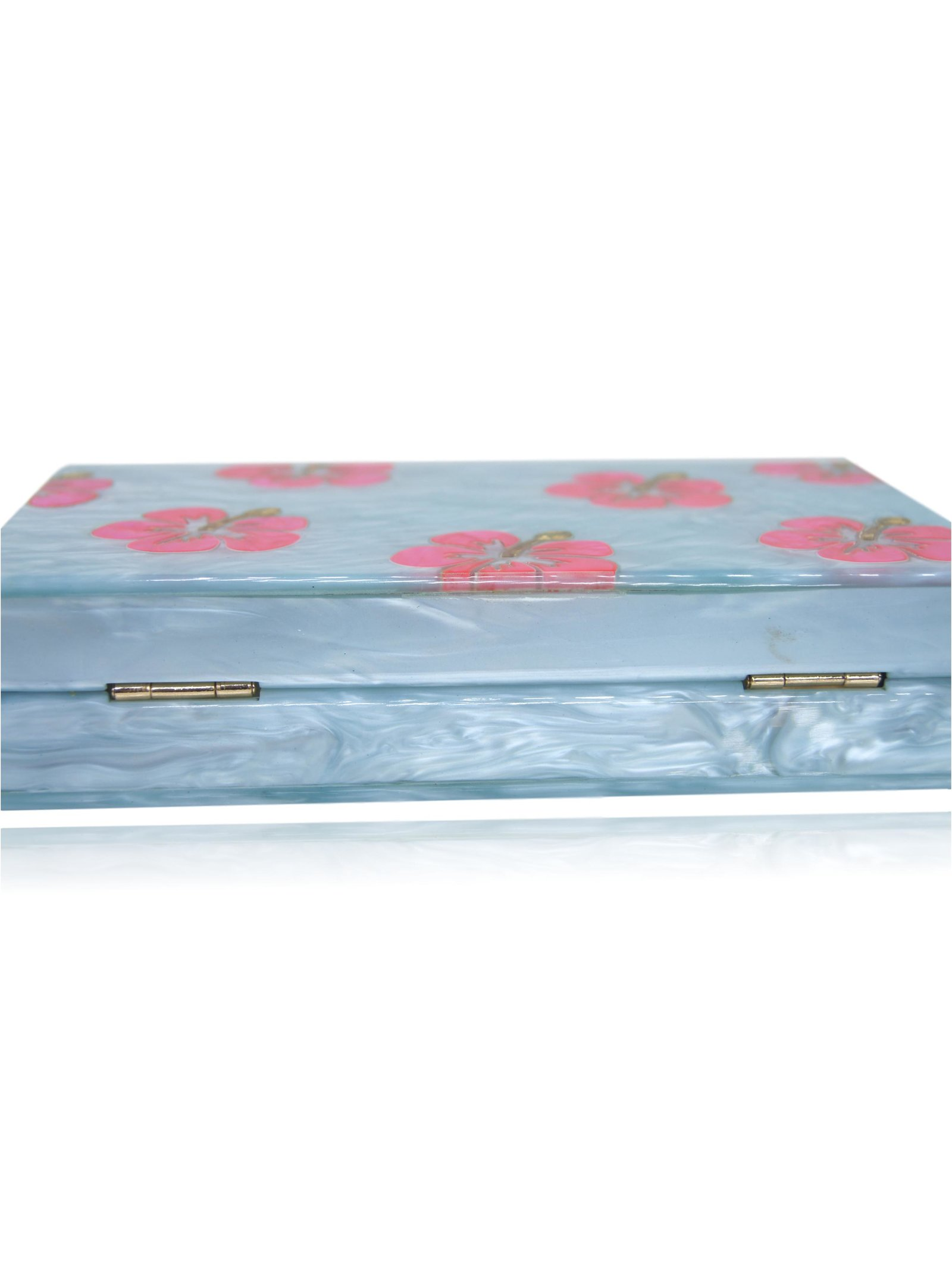 Milanblocks Milanblocks Hawaii Hibiscus Flowers Box Clutch