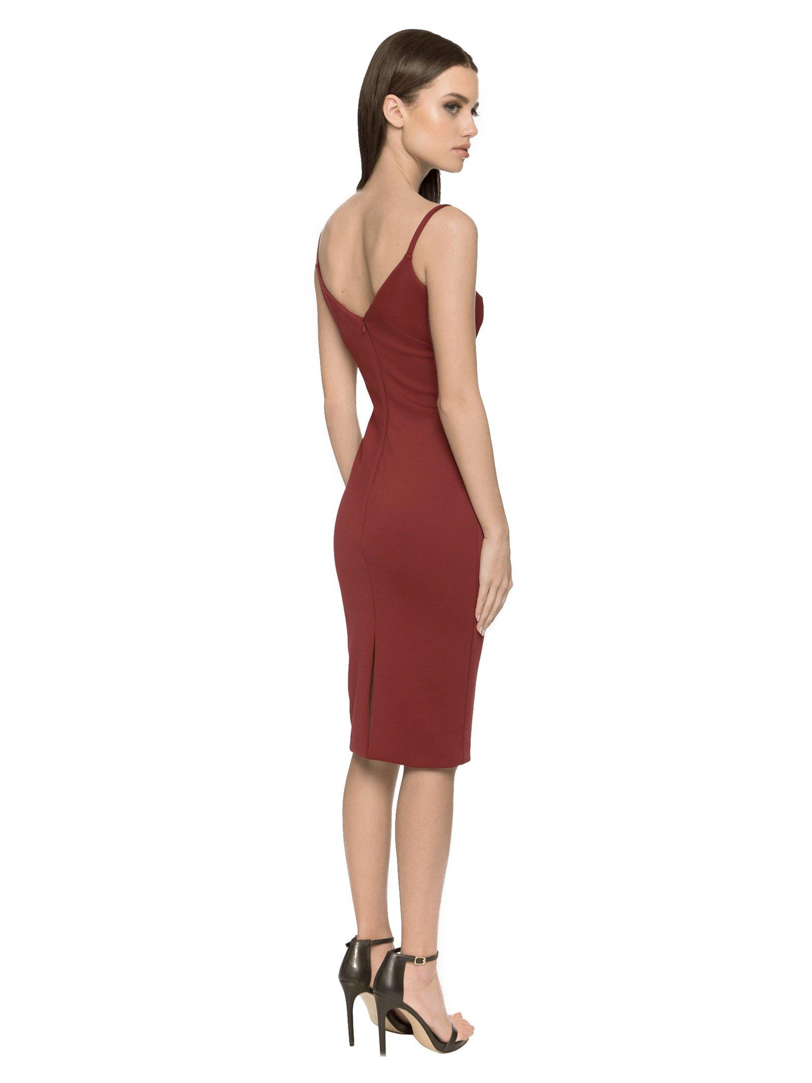 Aloura London Maddox Dress - Dark Red