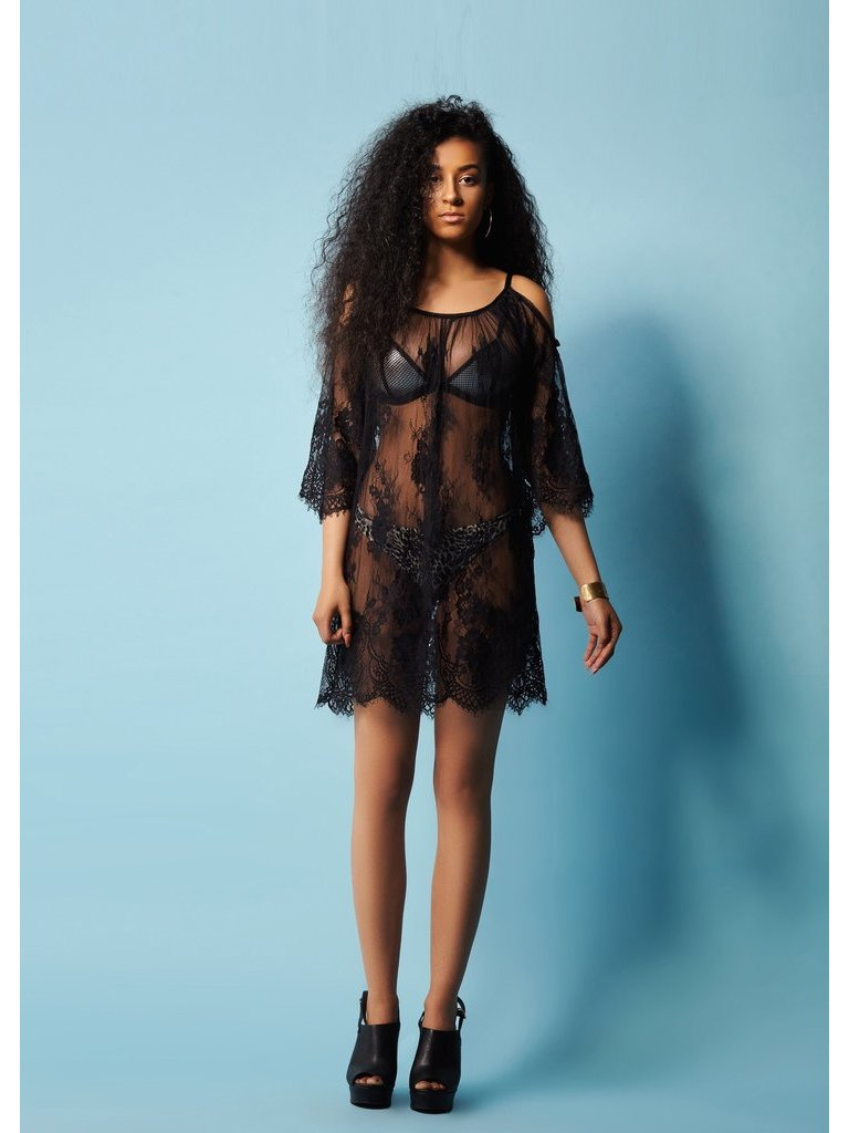 COCONAUTICAL Catherine - Black Lace Tunic