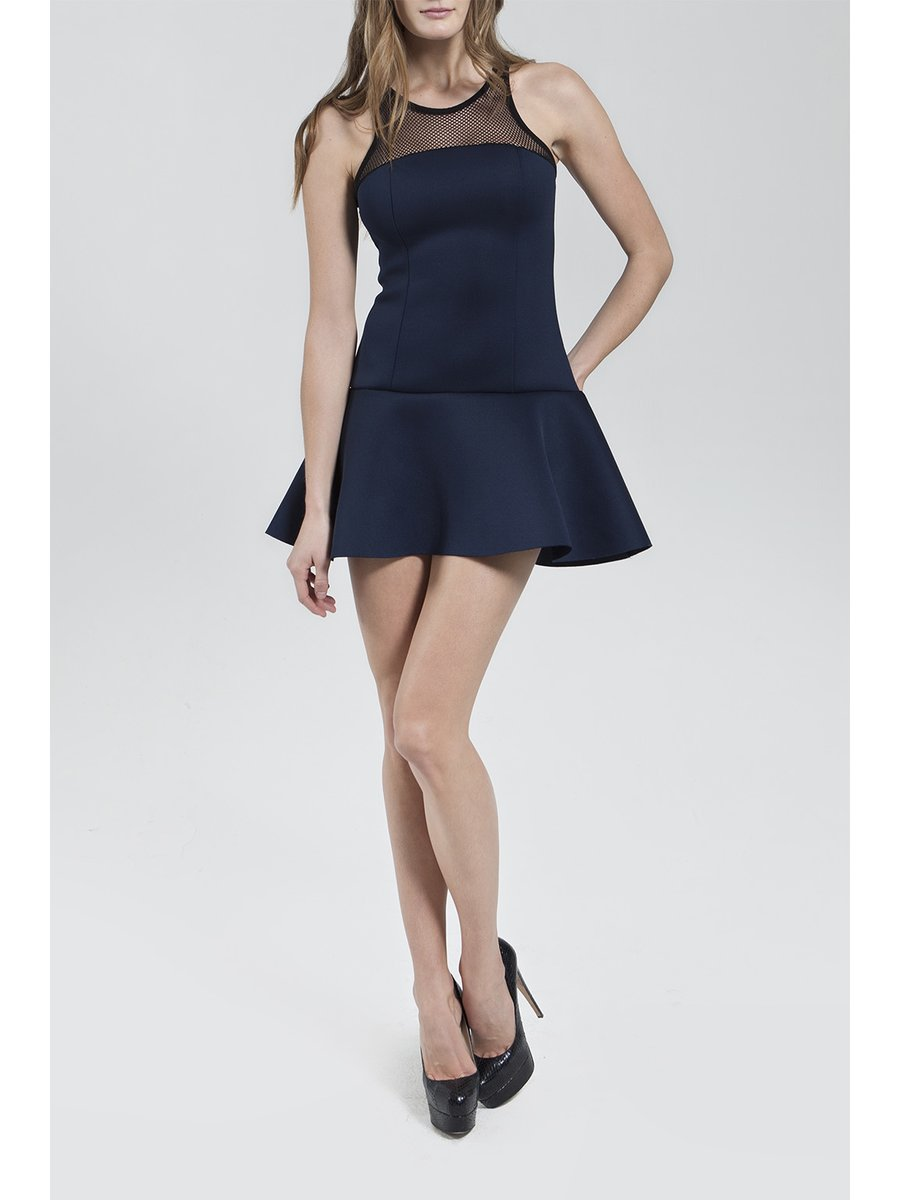 Narces Navy Mini Dress
