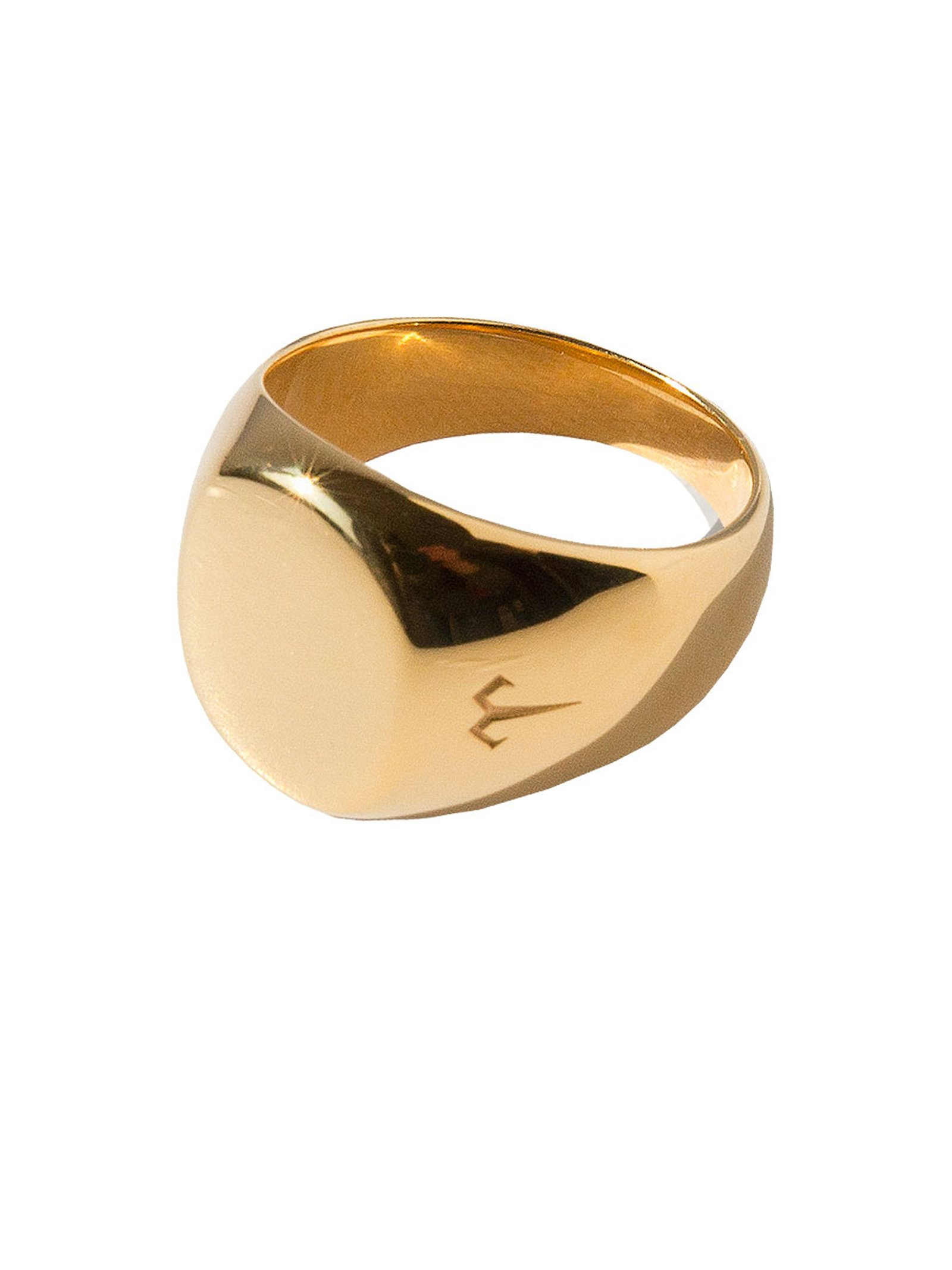 Ternary London TERNARY LONDON MEDIUM SIZE SIGNET RING GOLD PLATED