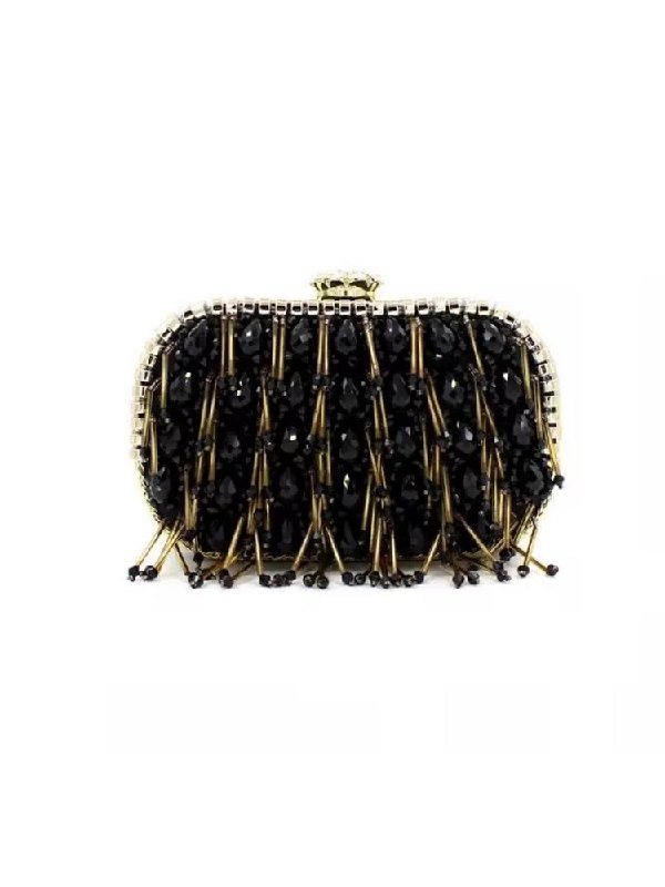 Kari C. Taylor tassel embellished clutch