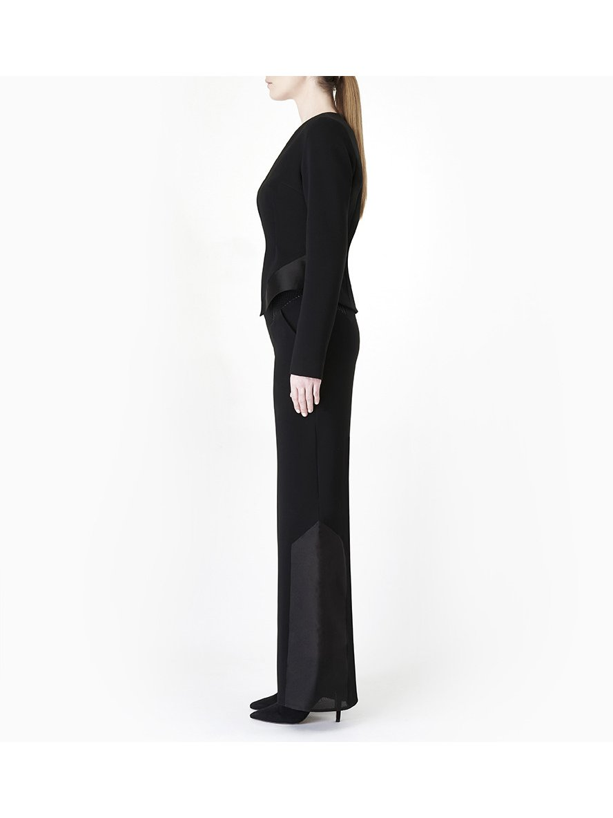Sarah Bond Night Rider Black Crepe Jacket
