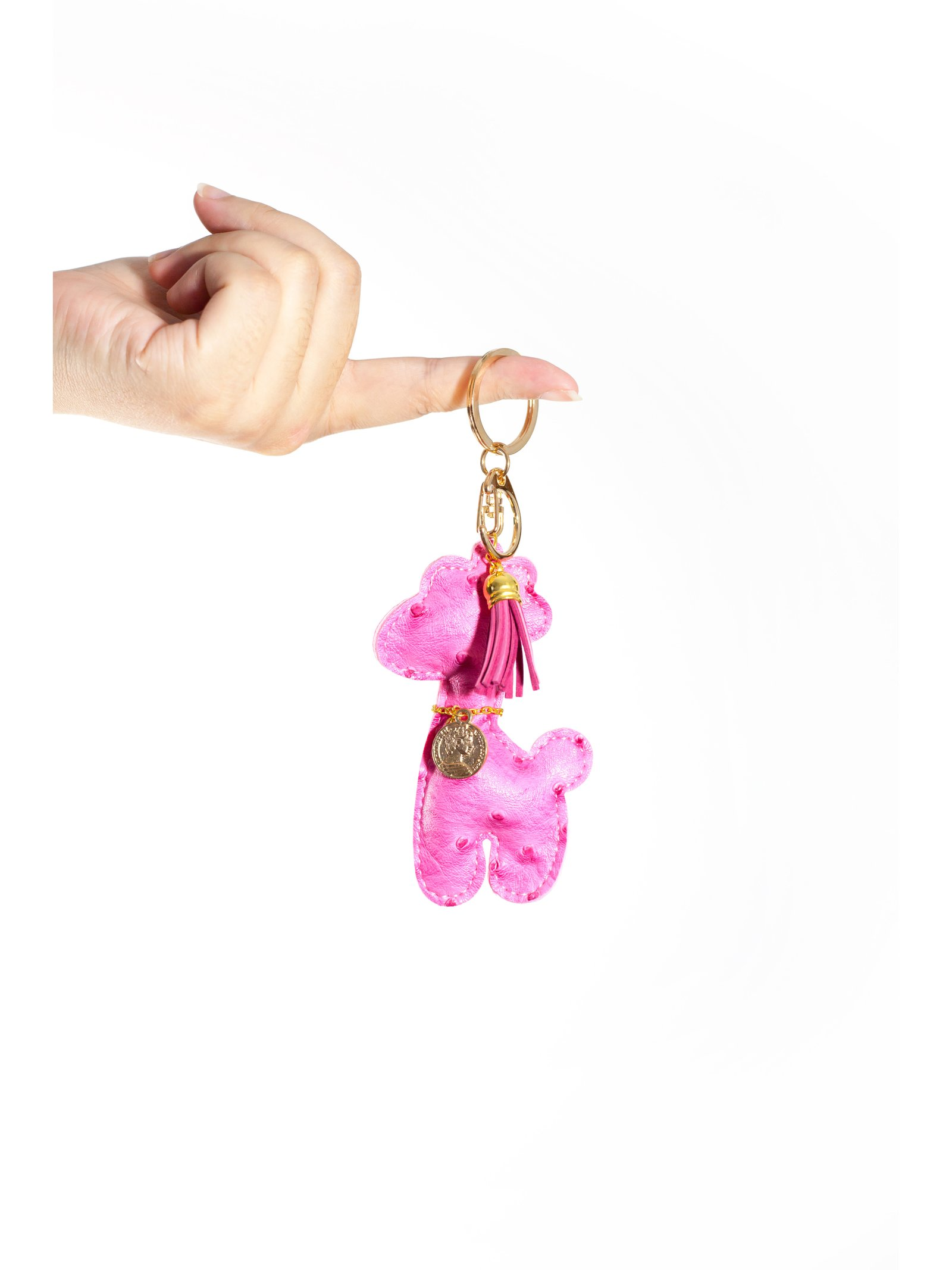 And The Rest Is Stardust Pink Giraffe Keychain