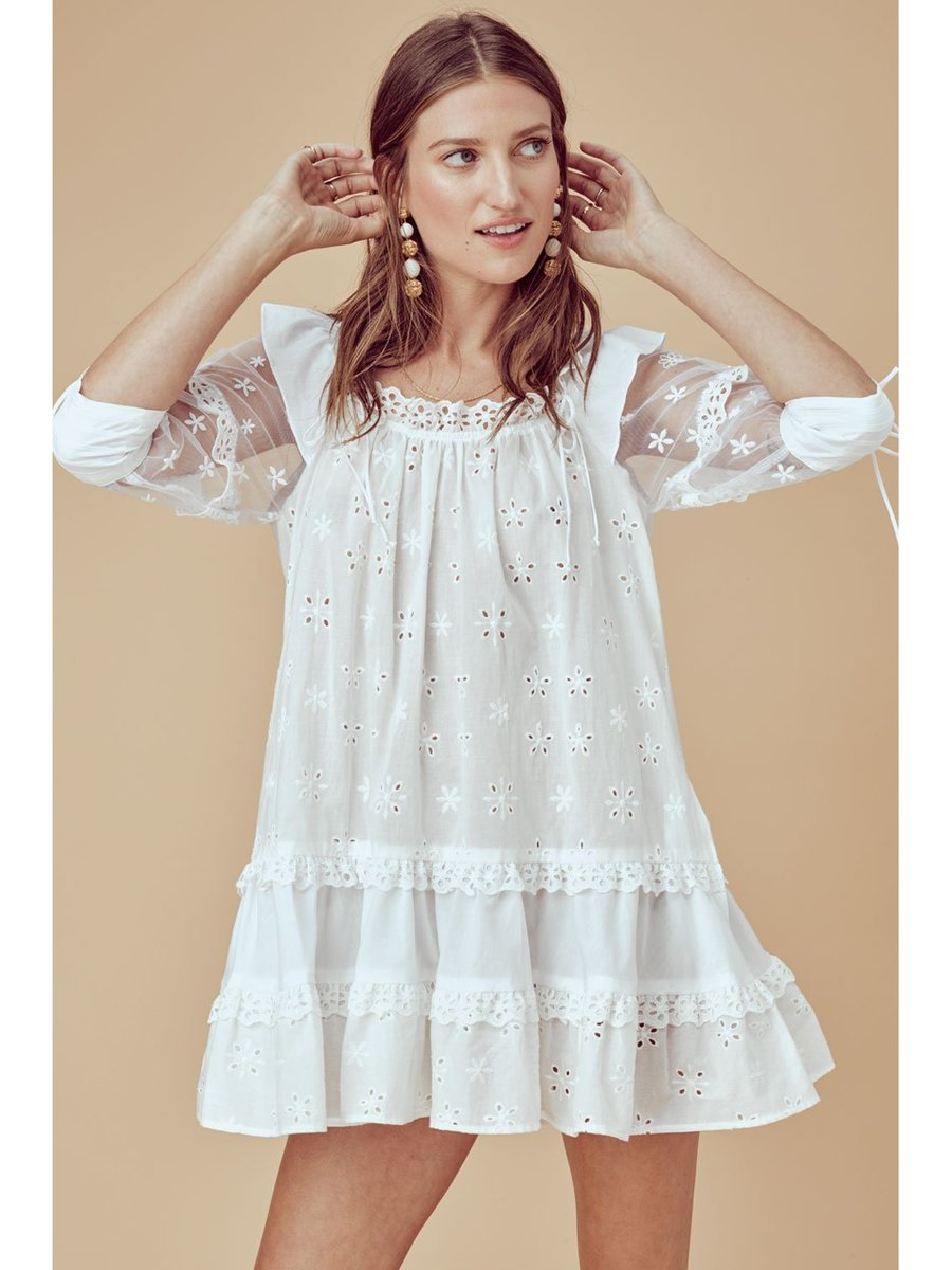 8685fa2a0a51 For Love   Lemons Hermosa Eyelet Swing Dress - PR-A-PO