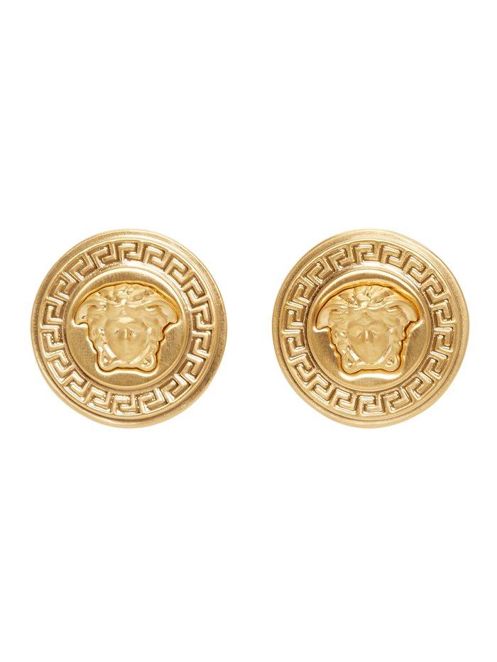 Versace Gold Medusa Medallion Earrings