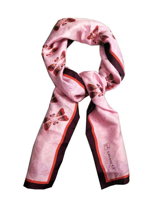 LISAN LY Butterfly Print Scarf