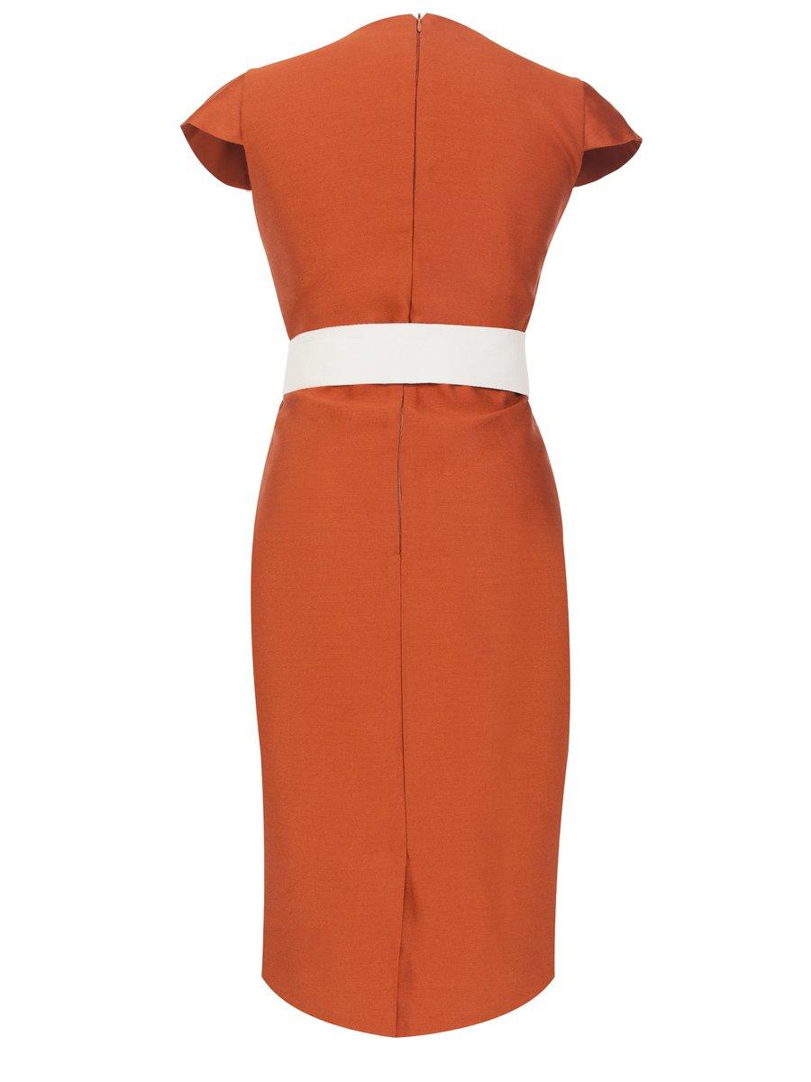 LIZA VETA Pencil Dress-Jalapeno