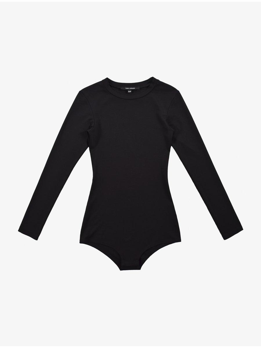 Cara Cheung Long Sleeve Bodysuit - Black
