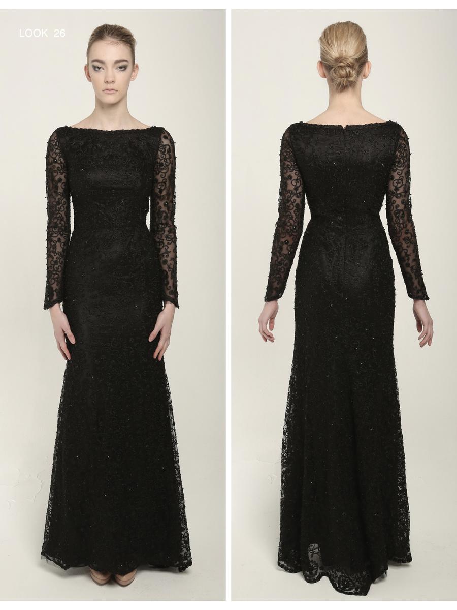 Narces Coral Black Dress