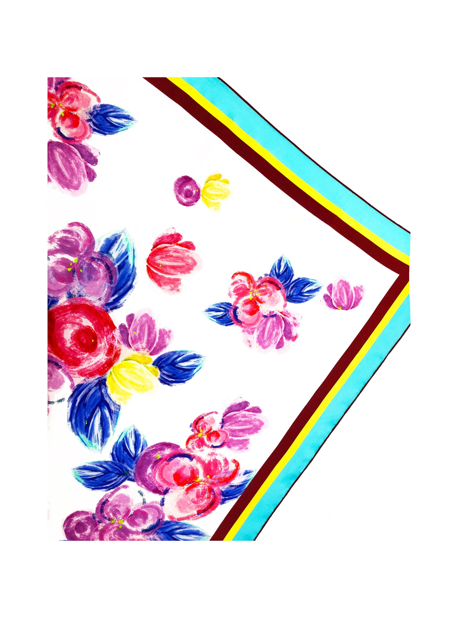 CHRITIFF Cherry Blossom Scarf (Multicolour) 90cm