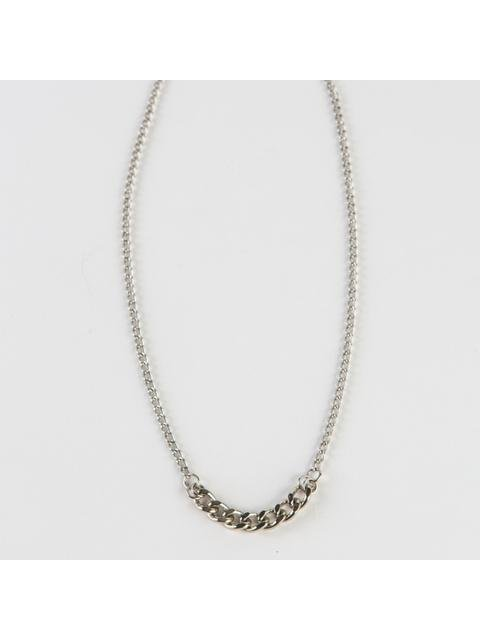 Monoxide Style Curb Chain Layer Necklace