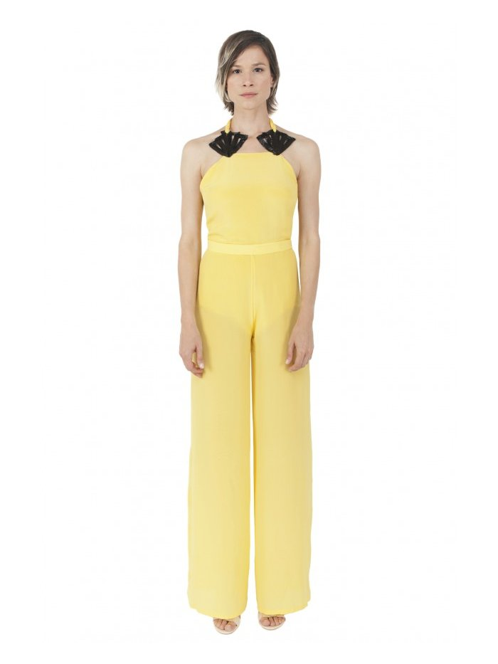 LIZA VETA LEMONCELLO SILK JUMPSUIT
