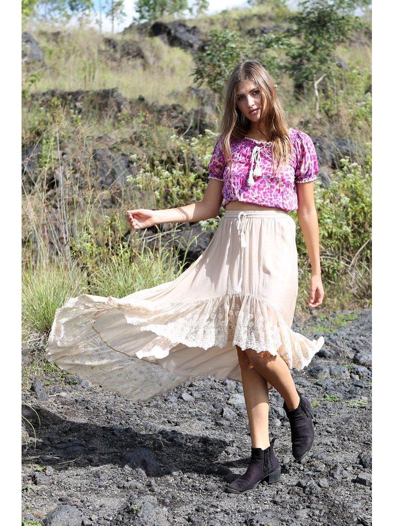 Tulle & Batiste Fairy Love Maxi Skirt Oyster