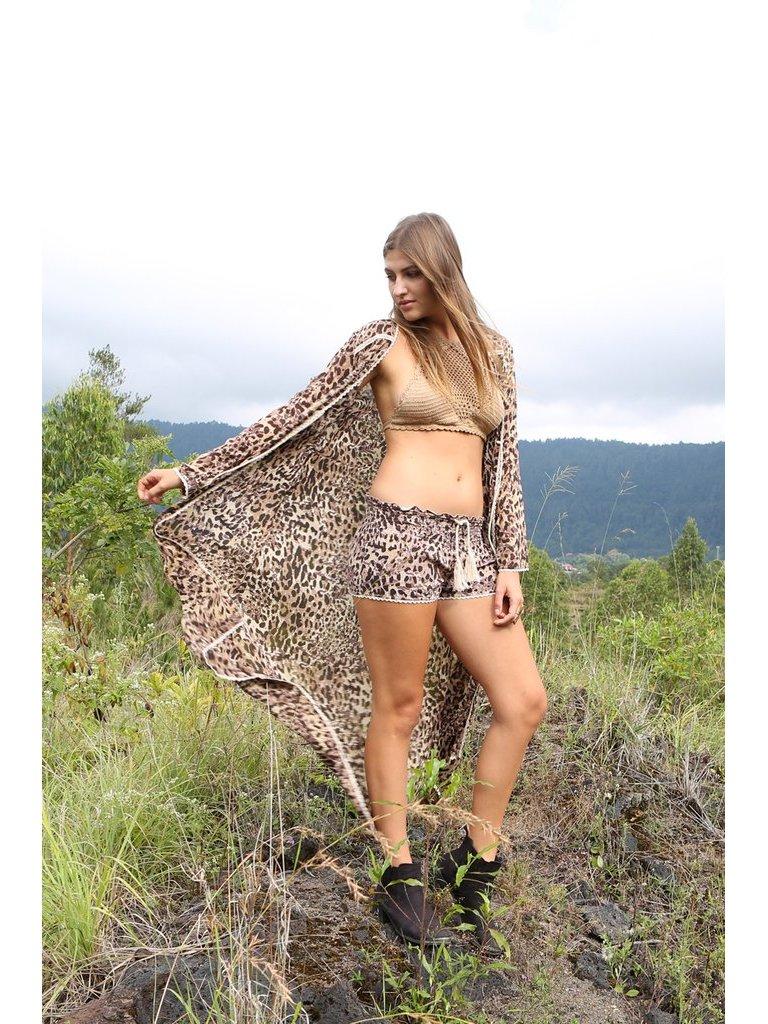 Tulle & Batiste Hunter Lace Coat Chestnut
