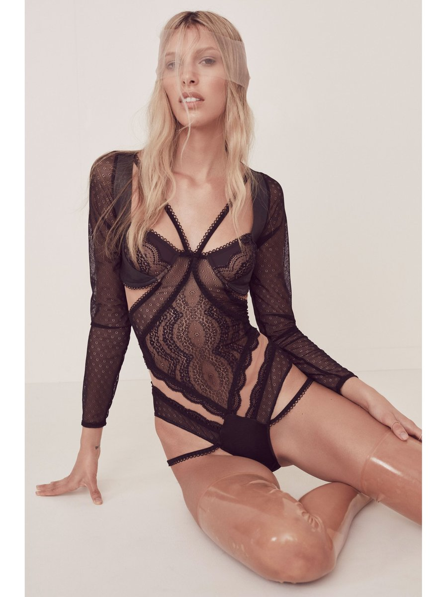 For Love & Lemons Esme Long Sleeve Bodysuit