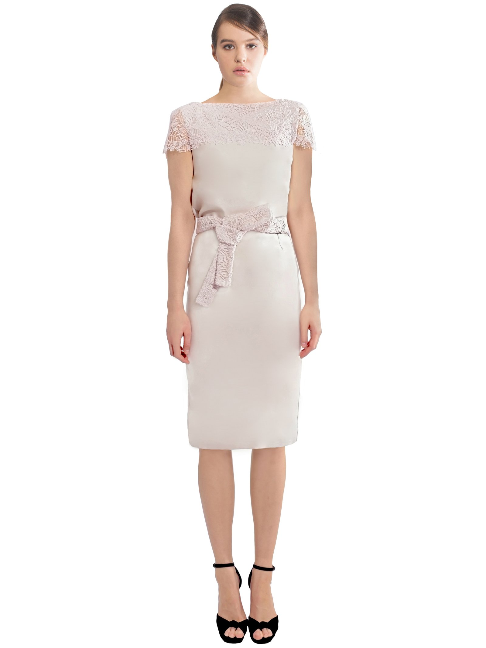 LIZA VETA Pencil Skirt With Floral Belt